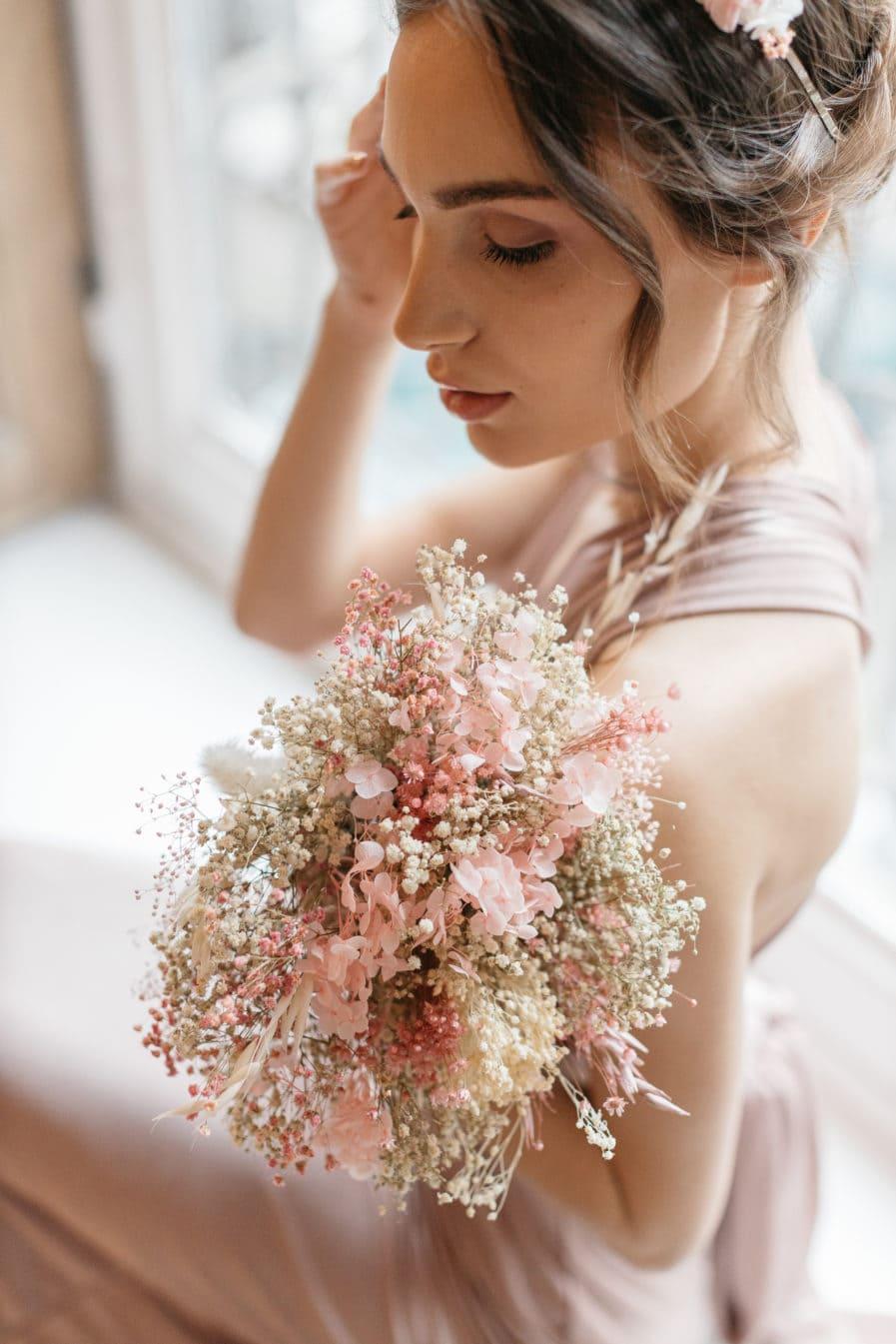 Bouquet en fleurs séchées Candi