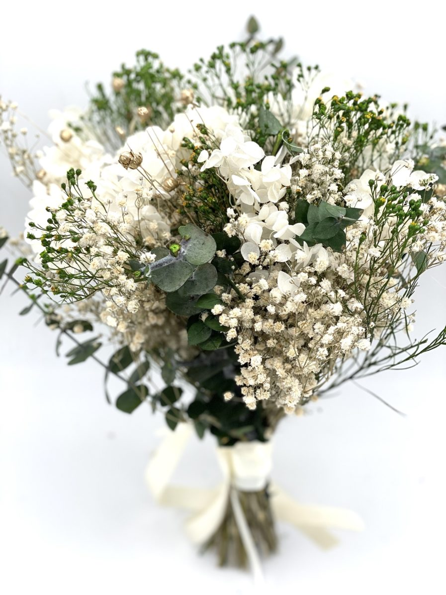 Bouquet en fleurs séchées Minthé pour la mariée