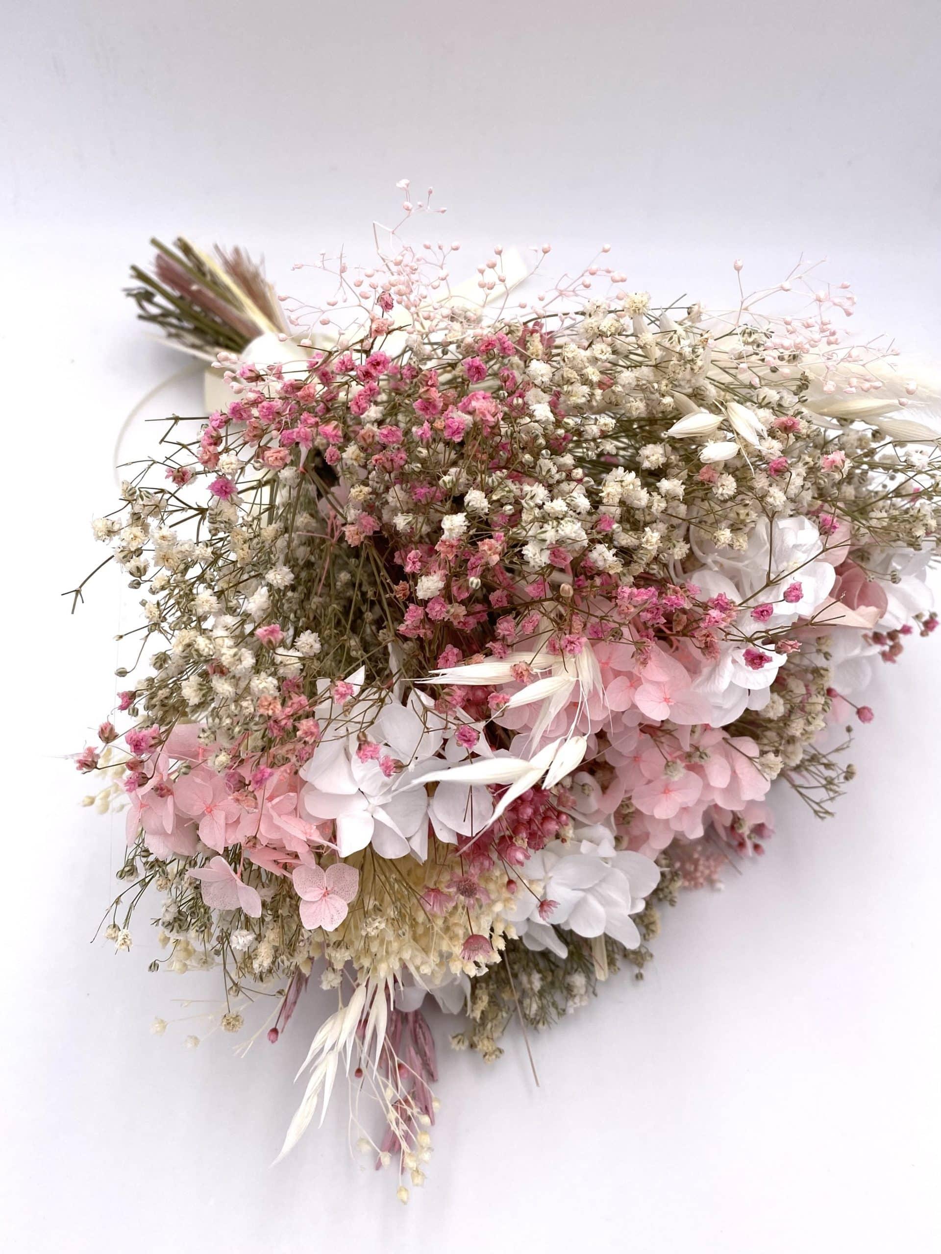 Bouquet en fleurs séchées naturelles Candi pour le mariage