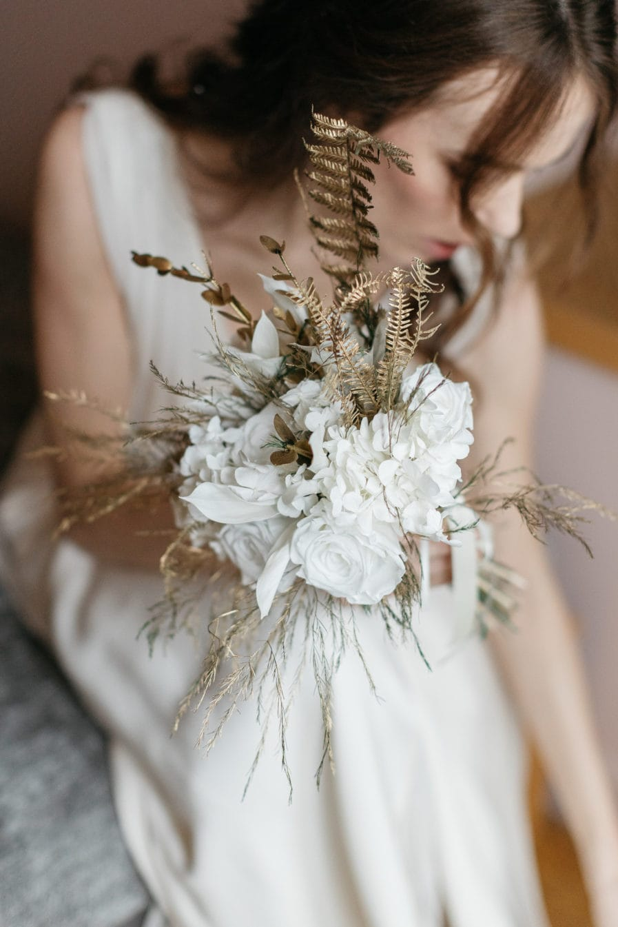 Bouquet en fleurs stabilisées Aura