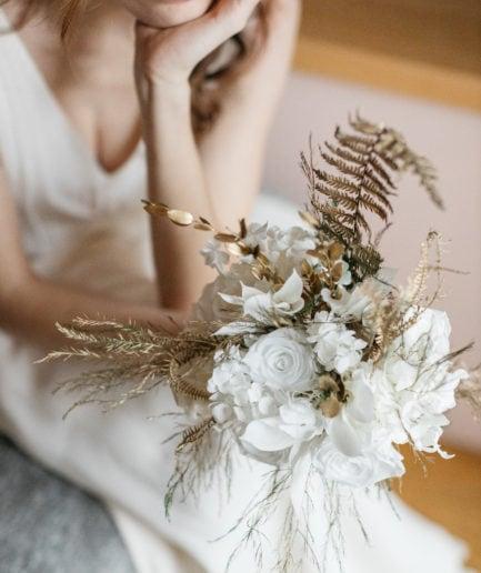 Bouquet en fleurs stabilisées Aura pour la mariée