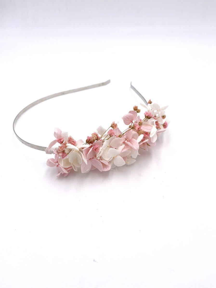 Headband en fleurs stabilisées Candi pour le mariage