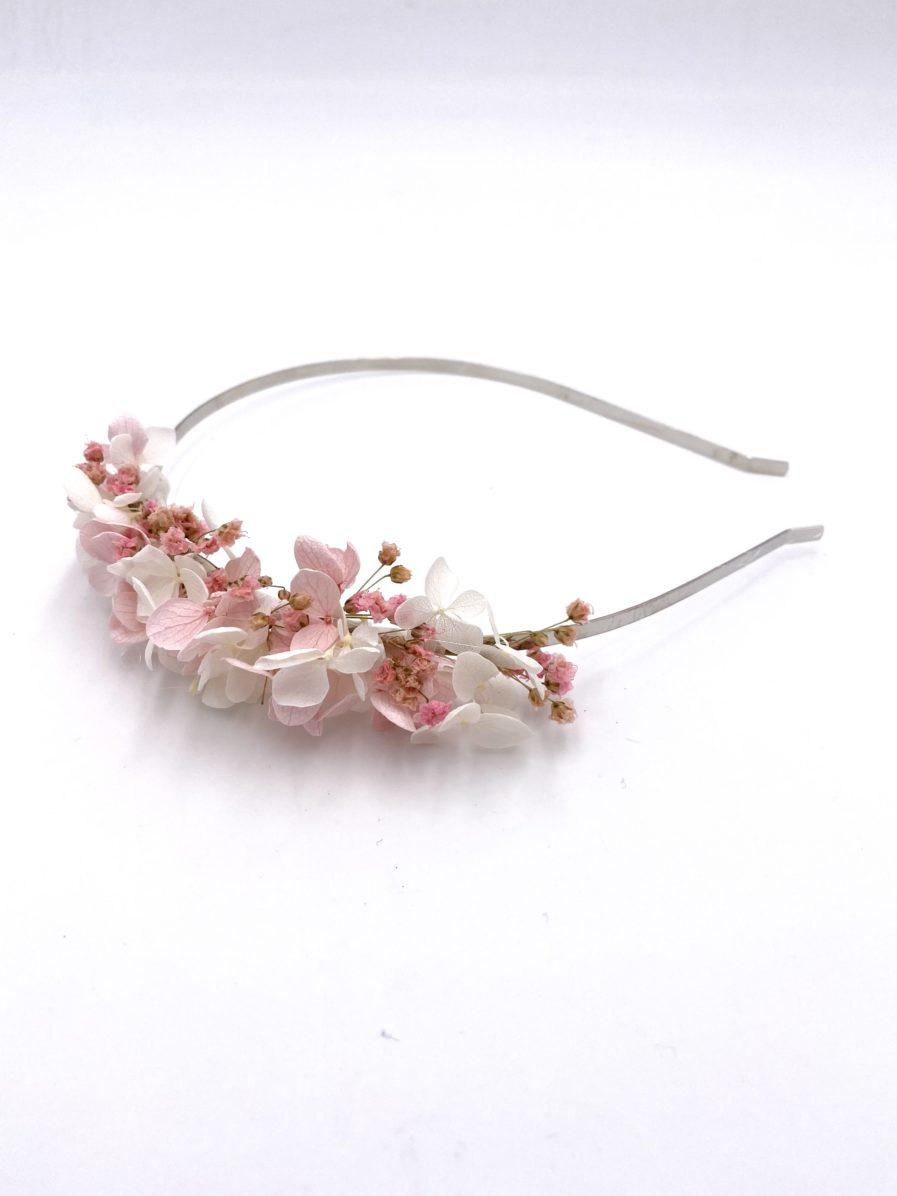 Headband en fleurs stabilisées Candi mini pour la mariée