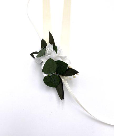 Bracelet de fleurs stabilisées Foglia pour la demoiselle d'honneur