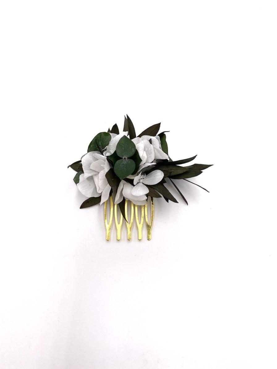 Peigne en feuilles stabilisées Foglia mini pour l'invitée de mariage