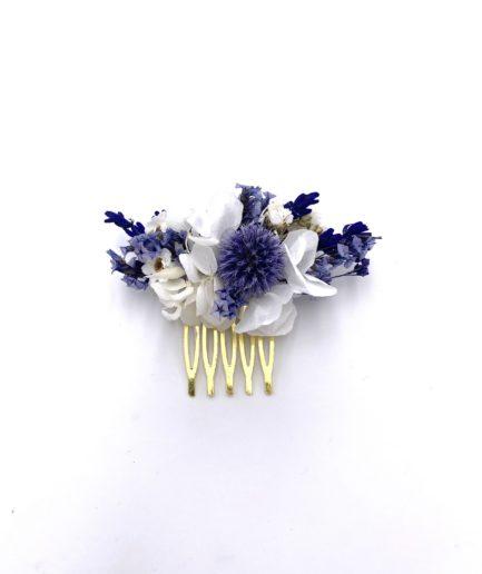 Peigne en fleurs séchées mini Violine