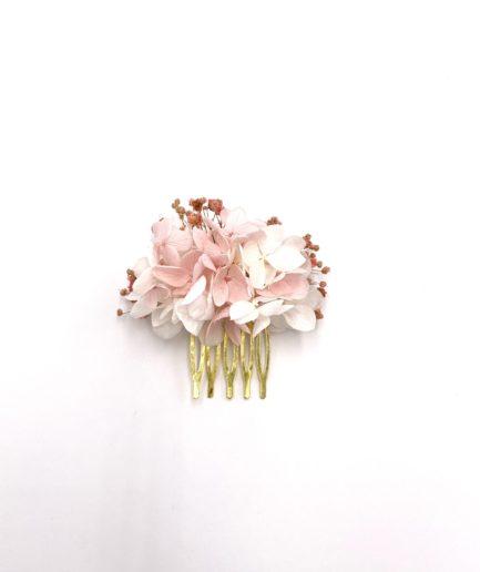 Peigne en fleurs stabilisées Candi mini pour la mariée