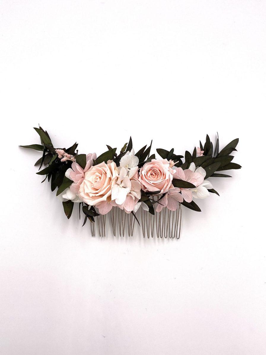 Peigne en fleurs stabilisées Lima long