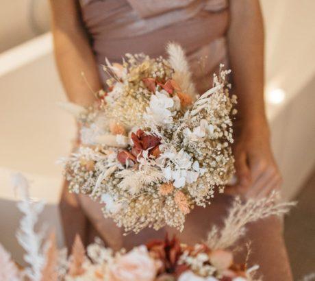 Bouquet de fleurs séchées Blush