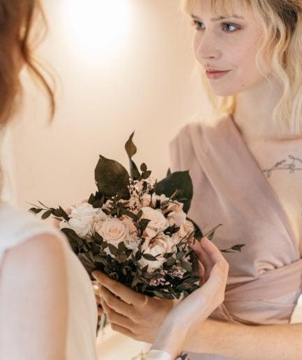 Bouquet en fleurs stabilisées Lima pour la mariée