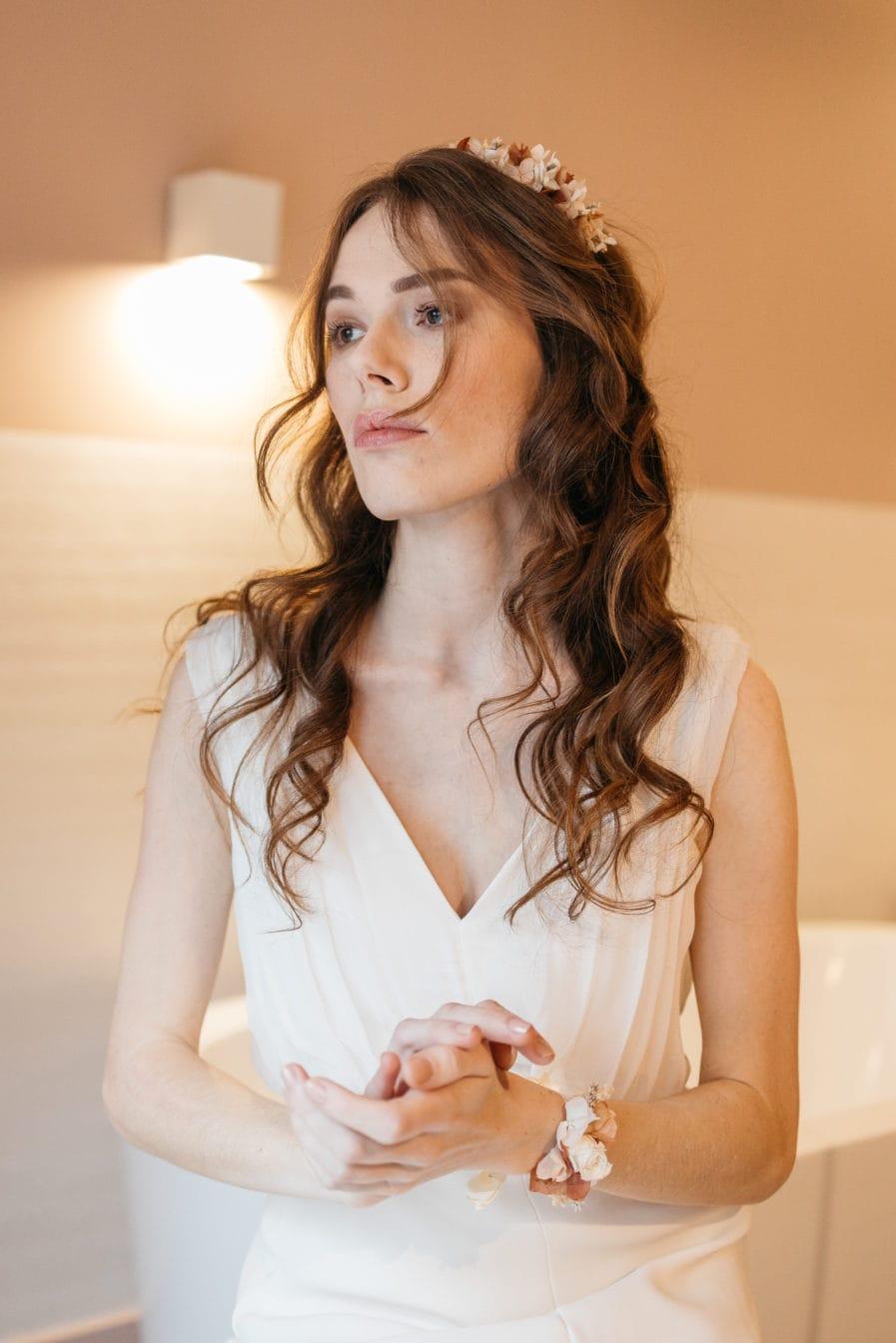 Bracelet Blush rose pour demoiselle d'honneur