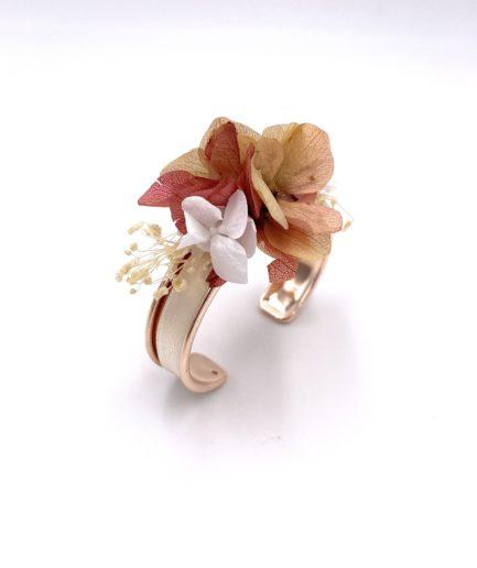 Bracelet jonc Blush en fleurs
