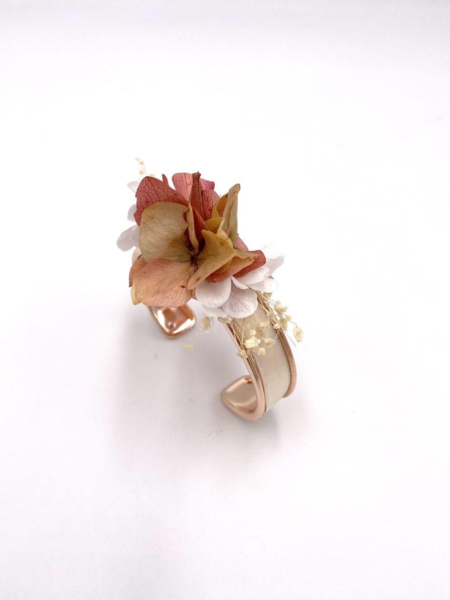 Bracelet jonc fleuri Blush