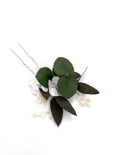Broche de fleurs stabilisées Foglia pour la demoiselle d'honneur
