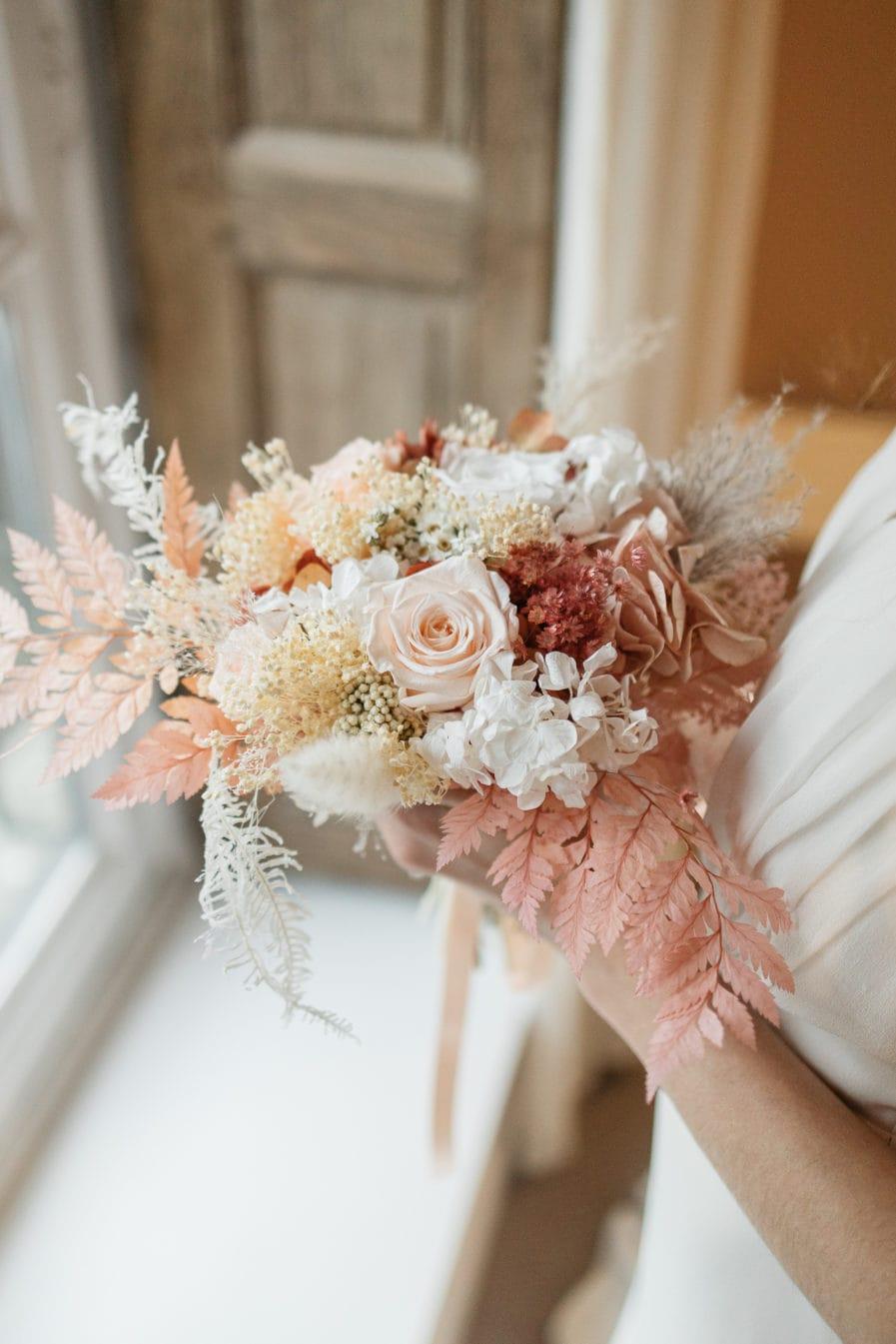 Bouquet en fleurs stabilisées Blush