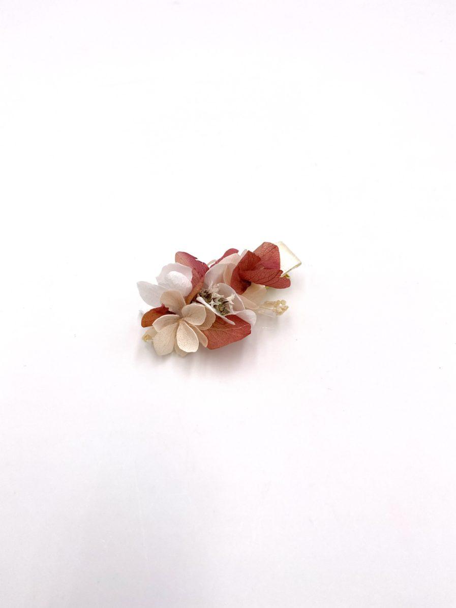 Mini barrette Blush en fleurs stabilisées