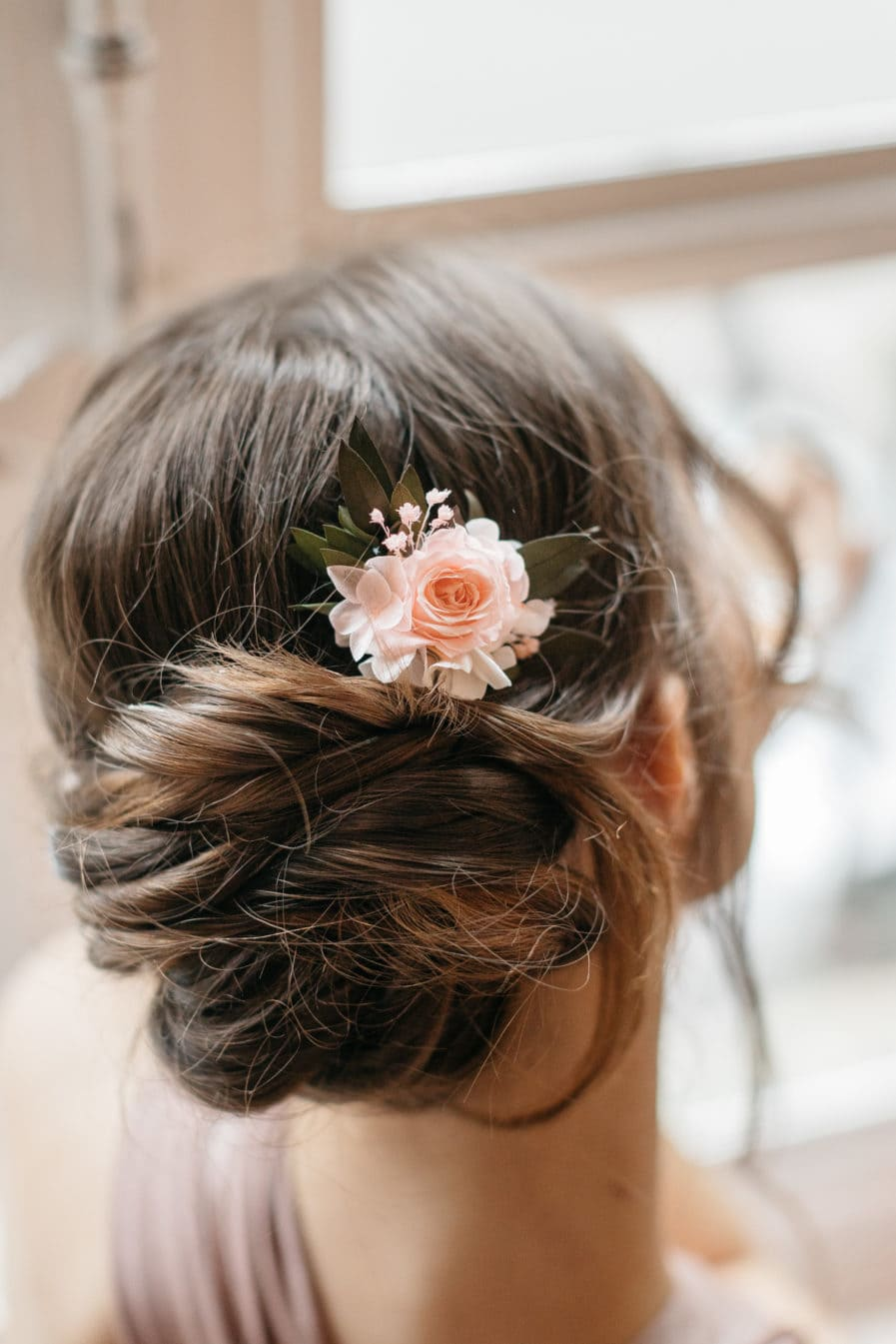 Peigne de fleurs stabilisées Lima mini