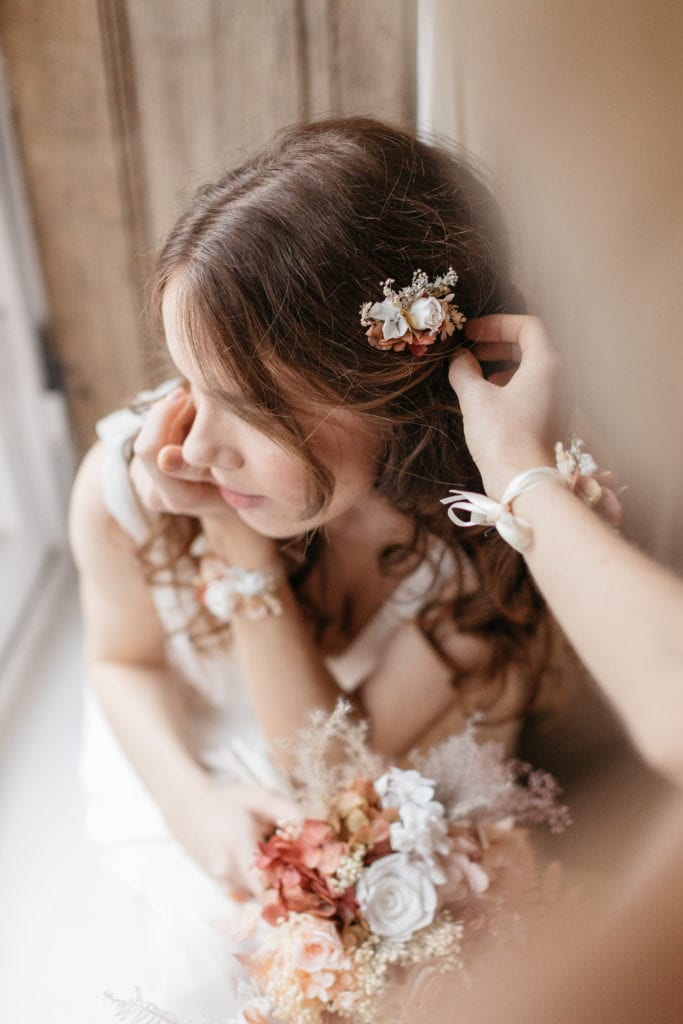 Peigne de mariée mini Blush