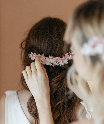 Peigne en fleurs stabilisées Candi long
