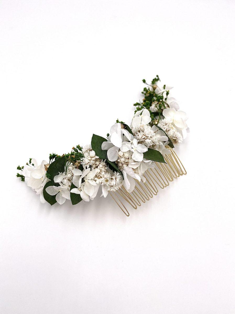 Peigne long en fleurs Minthé